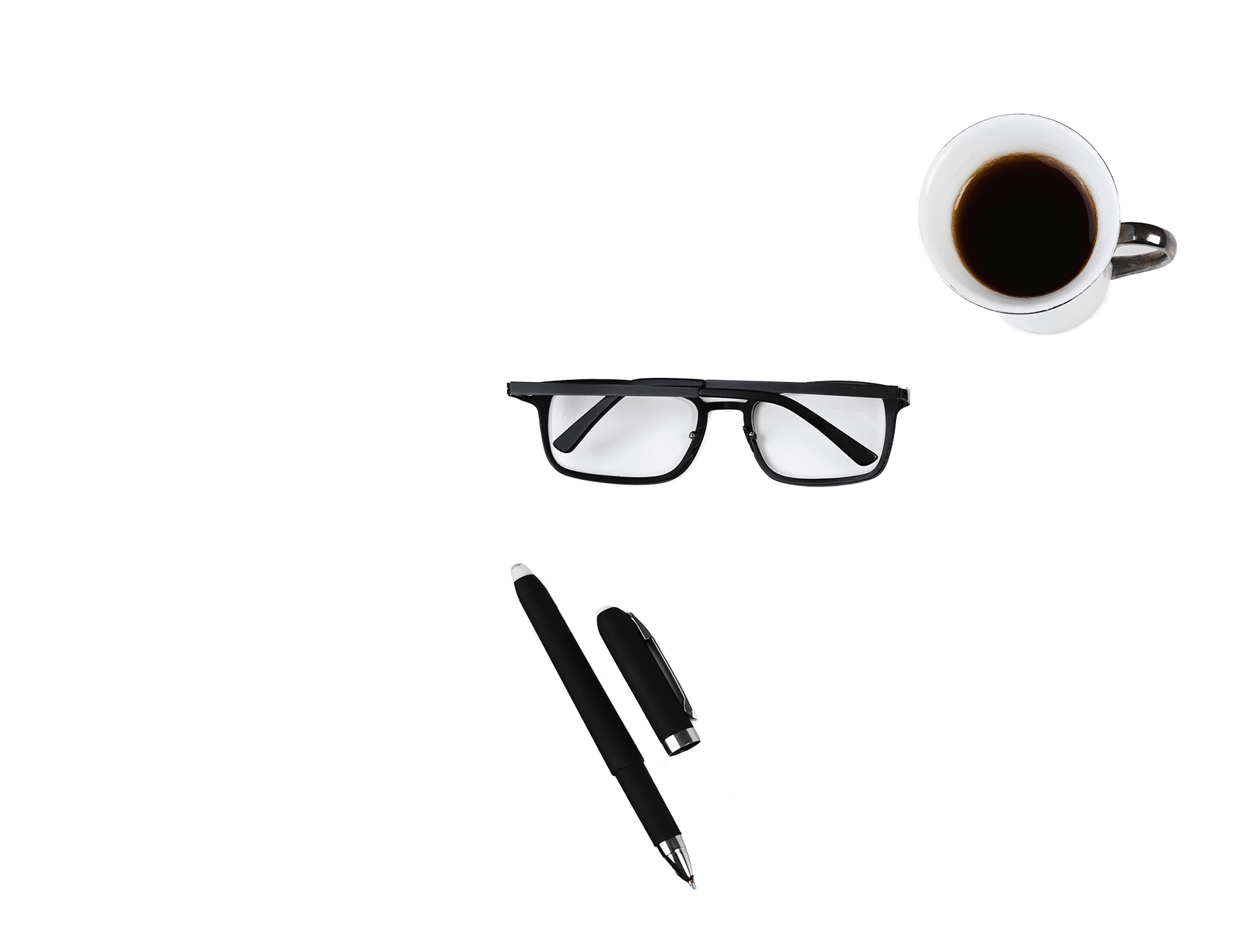 glasses and coffee conectys